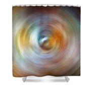 Carina Nebula Spin Art Shower Curtain