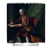 Carl Friedrich Abel, C.1777 Shower Curtain