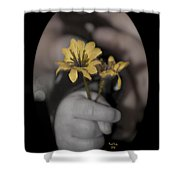 Carlee's Daisy Shower Curtain