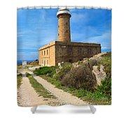 Carloforte Lighthouse Shower Curtain