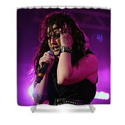 Carly In Concert Shower Curtain