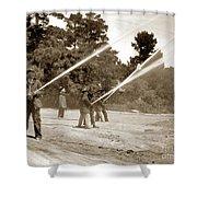 Carmel Fire Department California Circa 1930 Shower Curtain