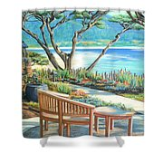 Carmel Lagoon View Shower Curtain