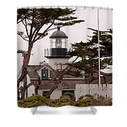 Carmel Light Station Shower Curtain