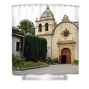 Carmel Mission Church Shower Curtain