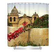 Carmel Mission Getting A Facelift Shower Curtain