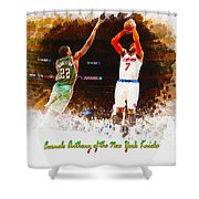 Carmelo Anthony Of The New York Knicks Shower Curtain
