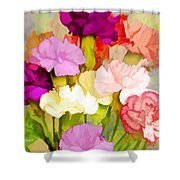 Carnation Bouquet Shower Curtain
