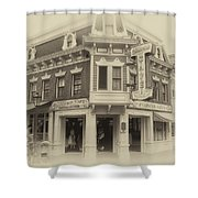 Carnation Cafe Main Street Disneyland Heirloom Shower Curtain