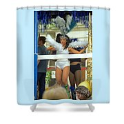Carnival Girl In Costume Social Occcasion Shower Curtain