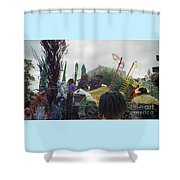 Carnival Girls At Play In Costume  Shower Curtain