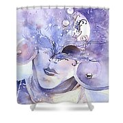 Carnival Mask Shower Curtain