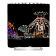 Carnival Rides At Night 04 Shower Curtain