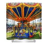 Carnival - Super Swing Ride Shower Curtain