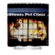 Carol House Quick Fix Pet Clinic Shower Curtain