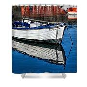 Carol June At Lyme Regis Harbour Shower Curtain