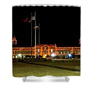 Carol Of Lights And Bell Towers Shower Curtain