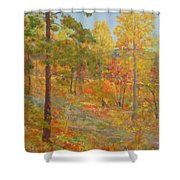 Carolina Autumn Gold Shower Curtain