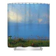Carolina Beach Afternoon Shower Curtain
