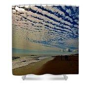 Carolina Blue Sky And Pier 10 10/17 Shower Curtain