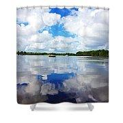 Carolina Blue- Washington Nc Shower Curtain by Joan Meyland