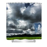 Carolina Clouds Shower Curtain