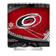 Carolina Hurricanes Christmas Shower Curtain