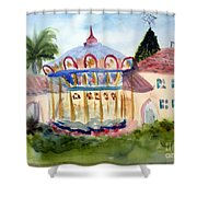 Carosel At Old School Square Shower Curtain