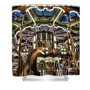 Carousel At Hotel Deville Shower Curtain