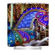Carousel Beauty Prancing Shower Curtain
