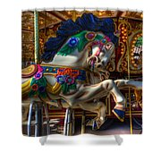Carousel Beauty Ready To Roll Shower Curtain