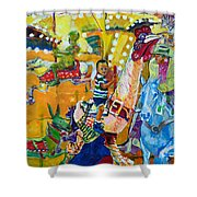Carousel Dreams Shower Curtain