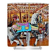 Carousel Horse 4 Shower Curtain