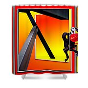Carousel Horse Fireman 03 Shower Curtain