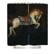 Carousel Horse Painterly Shower Curtain
