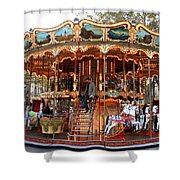Carousel In Avignon Shower Curtain