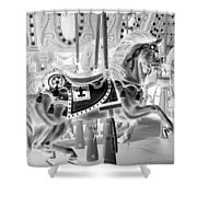 Carousel In Negative 3 Shower Curtain
