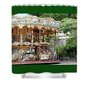 Carousel In Paris Shower Curtain