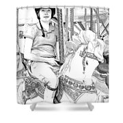 Carousel Rider Shower Curtain