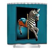 Carousel Zebra Shower Curtain