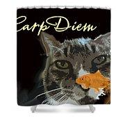 Carp Diem Shower Curtain