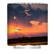 Carpathian Sunset Shower Curtain