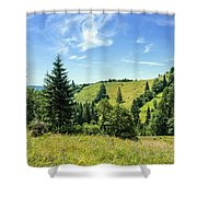 Carpathians Landscape Shower Curtain