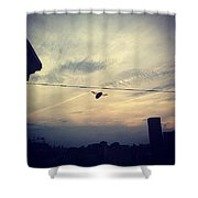 Carpenter Bees Abound On The Deck Shower Curtain
