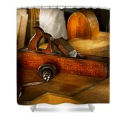 Carpenter - The Humble Shop Plane Shower Curtain