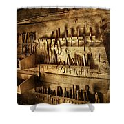 Carpenter's Workroom Shower Curtain