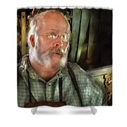 Carpentry - The Carpenter And His Workshop Shower Curtain