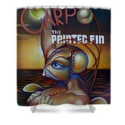 Carpo In The Painted Fin Shower Curtain