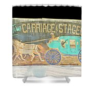 Carriage And Stagecoach Color Invert Shower Curtain