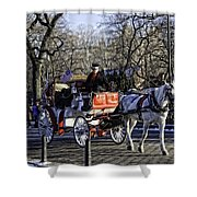 Carriage Driver - Central Park - Nyc Shower Curtain